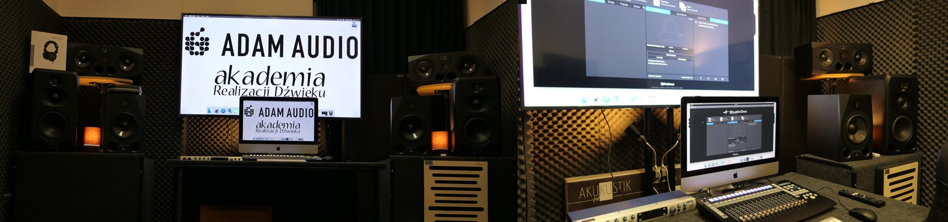 Monitory marki ADAM Audio w Akademii Realizacji Dźwięku
